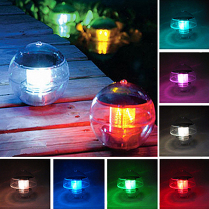 Solar Power Floating RGB Colors Light LED Night View Lamp for Garden Decoration Outdoor Waterproof Solar LED Bulbs Ball Light