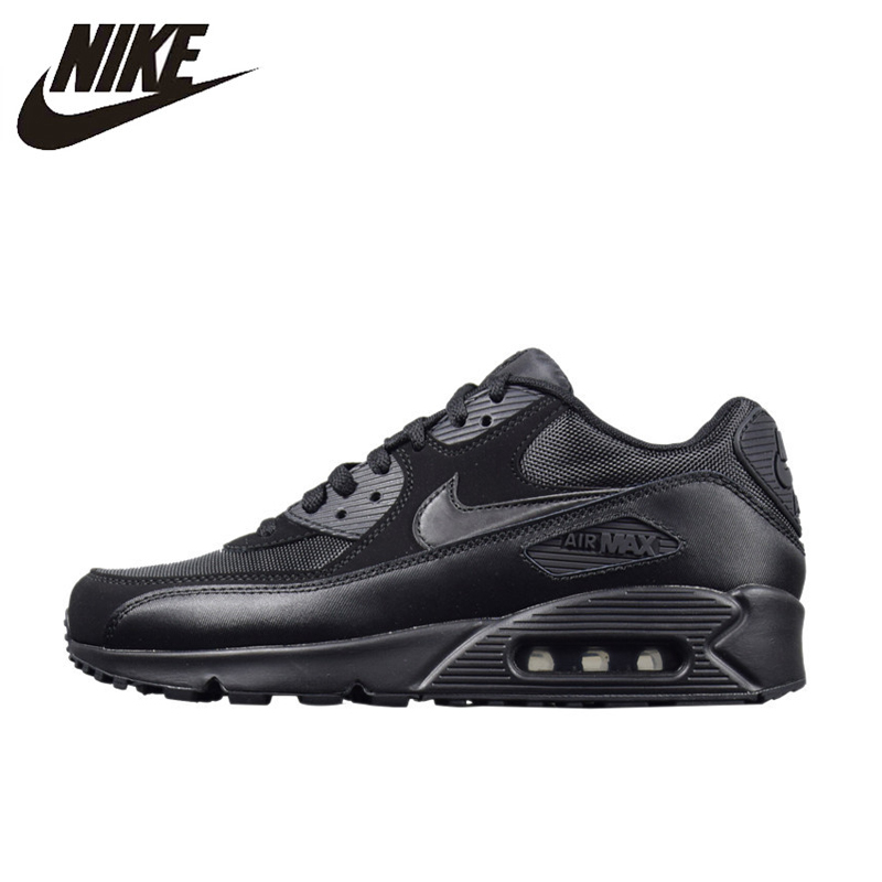 purchase cheap 50d6d 8f59e NIKE AIR MAX 90 ESSENTIAL Men s Running Shoes, Outdoor Sneakers Shoes,Black,  Breathable