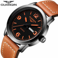 Men's Fashion Sport Watches Men Quartz Brand GUANQIN Analog Date Week Clock Man Military Waterproof Watch Relogio Masculino