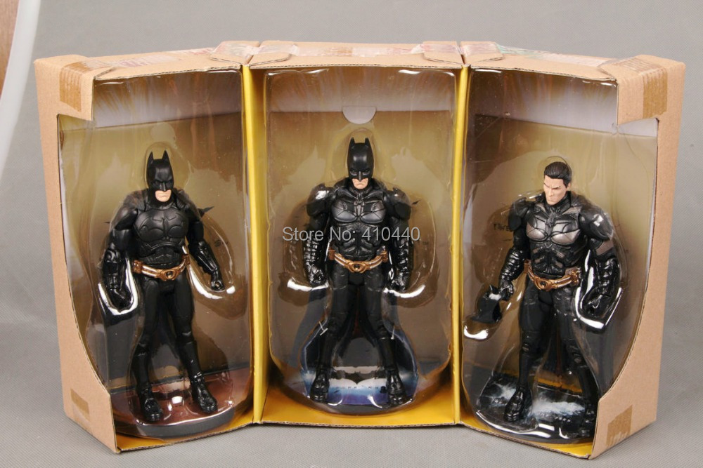 3pcs Set <font><b>Batman</b></font> <font><b>The</b></font> <font><b>Dark</b></font> <font><b>Knight</b></font> <font><b>Rises</b></font> <font><b>Movie</b></font> <font><b>Masters</b></font> Collector <font><b>Batman</b></font> Figure