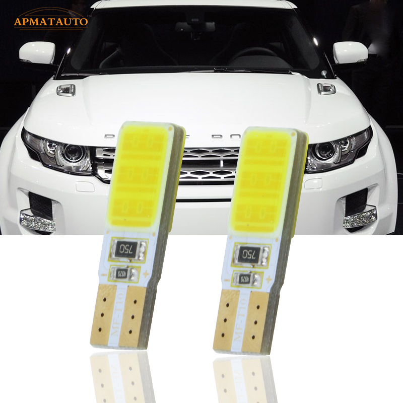2x T10 W5W  LED Side Parking Lights Marker Lamps Bulb For   Land Rover Discovery Range Rover Evoque Freelander for land rover range rover evoque inside