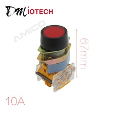 цена на DPST Self Locking Red Button 4mm Mount Thread Pushbutton Switch AC 660V 10A