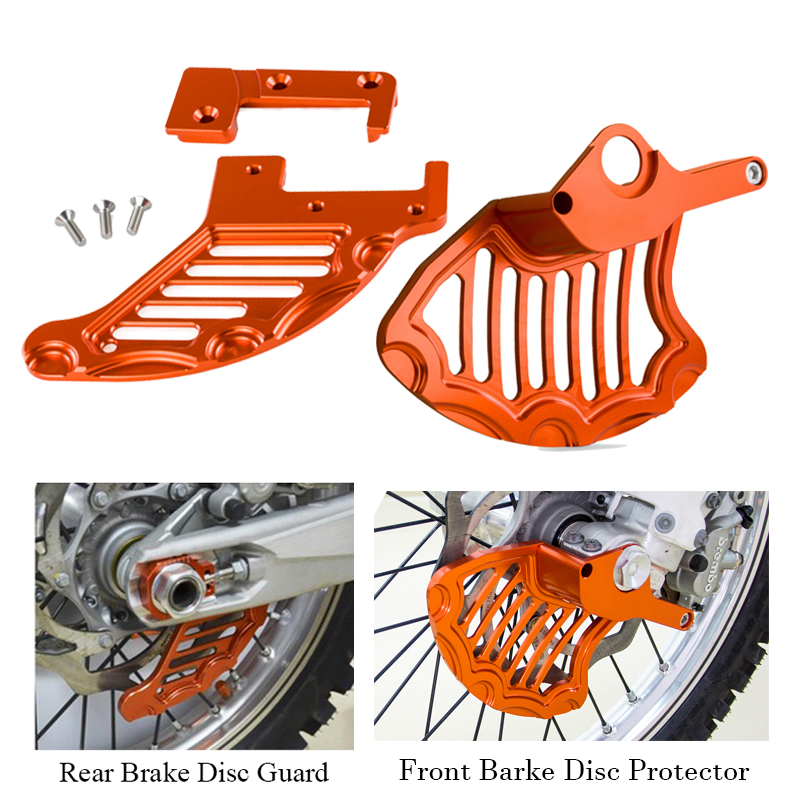 Front Rear Brake Disc Guard Protector For <font><b>KTM</b></font> 125 250 200 300 350 450 <font><b>500</b></font> 525 530 SXF <font><b>EXC</b></font> XCW SX XC MXC 2004-2011 <font><b>2012</b></font> 2013 2014 image