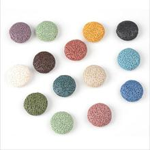20mm 27mm 32mm Colorful Flat Round Lava Beads Coin Shape Volcanic Rock Loose Spacer Jewelry Earrings Necklace Making DIY