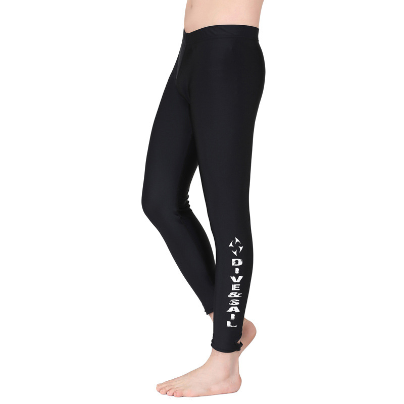 ФОТО Sunscreen snorkeling diving pants split men and women thin surfing sailing sailing jellyfish swimming trousers