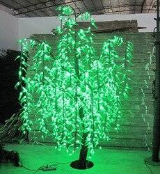LED أشجار زينة مضيئة ضوء LED 1296Bpcs المصابيح 2 متر/6.6FT اللون الأخضر غير نافذ للمطر داخلي أو خارجي عطلة حفلة عيد الميلاد السنة الجديدة استخدام