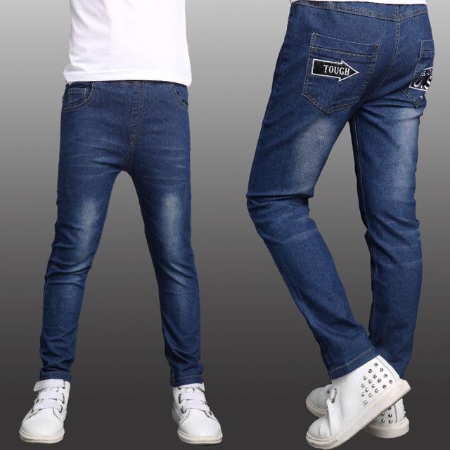 5 6 7 8 9 10 11 12 13 anos crianças jeans para meninos outono adolescentes de jeans de alta qualidade para crianças roupas