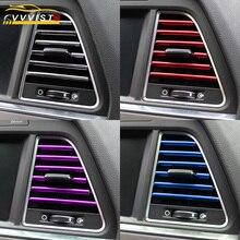 2019 VVVIST Auto Styling Mouldings 20 cm Interieur Ventilatierooster Switch Rim Trim Outlet Scratch Guard Protector Auto Styling strip