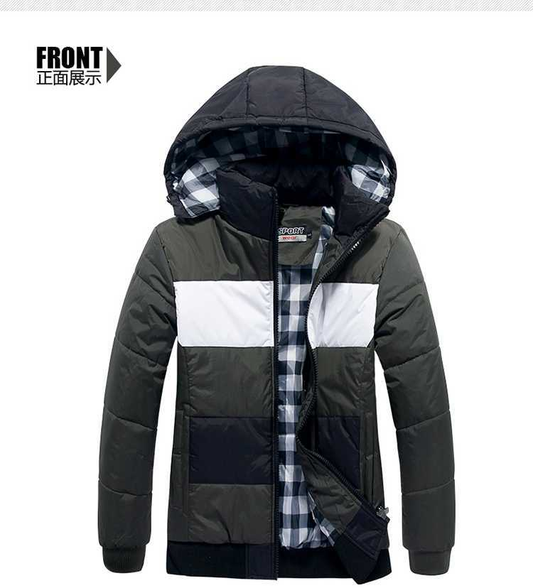 ФОТО New Arrival Men's Jacket Coat Men's Outdoors Fashion Casual Thickening Warm Hooded Coats & Jackets Winter Coat H4611