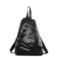 women backpack 2017 new female waterproof backpack bag all-match retro fashion buttons men backpack