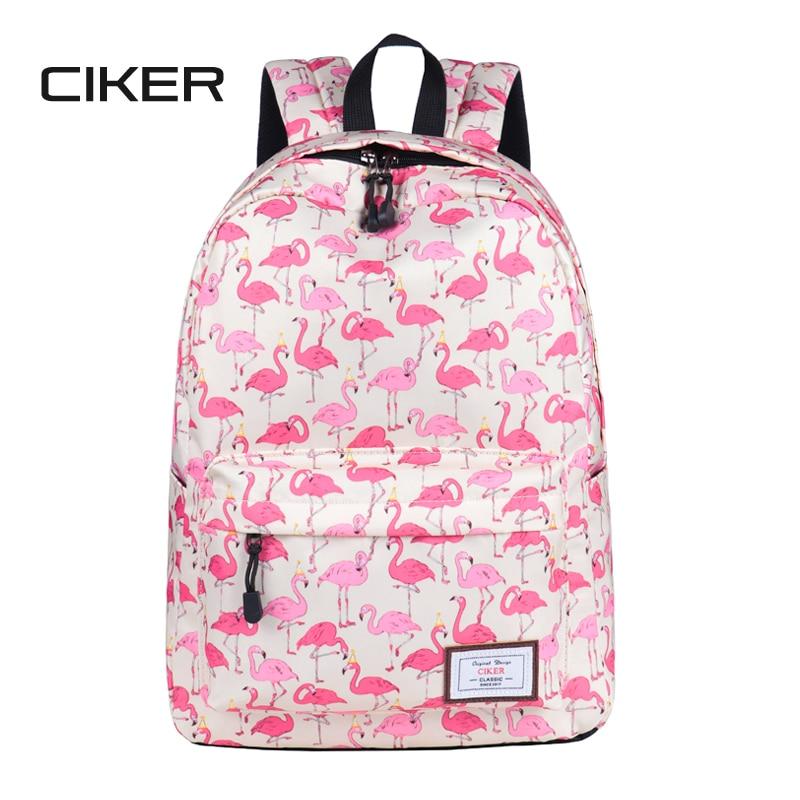 CIKER fashion preppy style women Flamingo printing backpacks for teenage girls mochilas rucksack shoulder bag cute school bags