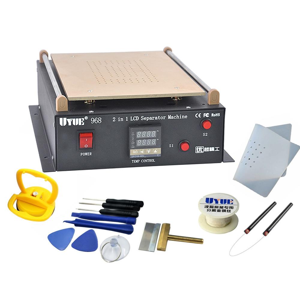 UYUE 968 14 Inches Build-in Air Dual Pump Vacuum Pump LCD Separator Screen Repair For IPad/Samsung Tablet Repair Machine Kit
