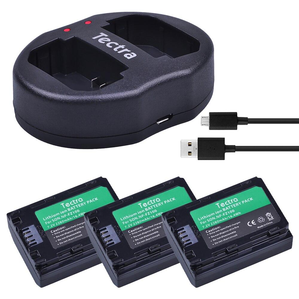 Здесь можно купить  3 pcs NP FZ100 NP-FZ100 NPFZ100 battery+USB Dual Charger for Sony ILCE-9, BC-QZ1, a7r3, A7RIII, ILCE-7RM3, A9R, 7RM3, camera  Бытовая электроника