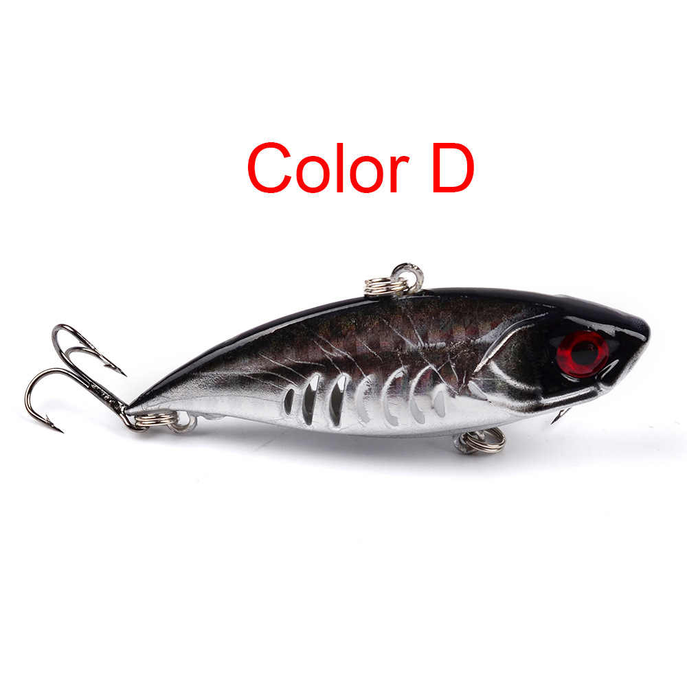 6.5cm/11g VIB fishing lure Sinking Lures Rotating Tail Fishing Tackle Crankbait Vibration Spinner