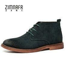 Зеленый осень ботинки из замши коричневый сапоги для мужчин ботильоны повседневные туфли-оксфорды винтажные резиновые сапоги для мужчин осень замшевая обувь