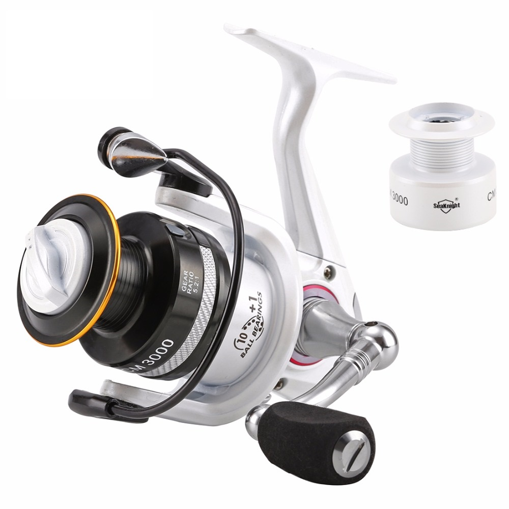 Spinning Fishing Reel Carbon Carp With Free Spare Spool CM3000 4000 5.2:1 4.2:1 11Ball Bearing Max Drag 7.5kg цена 2017