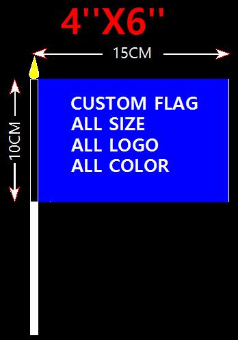 US $9 0  hand waving stick flag single side 100D Polyester 10x15cm flags  advertising waving flag banner home party bar decoration on Aliexpress com   