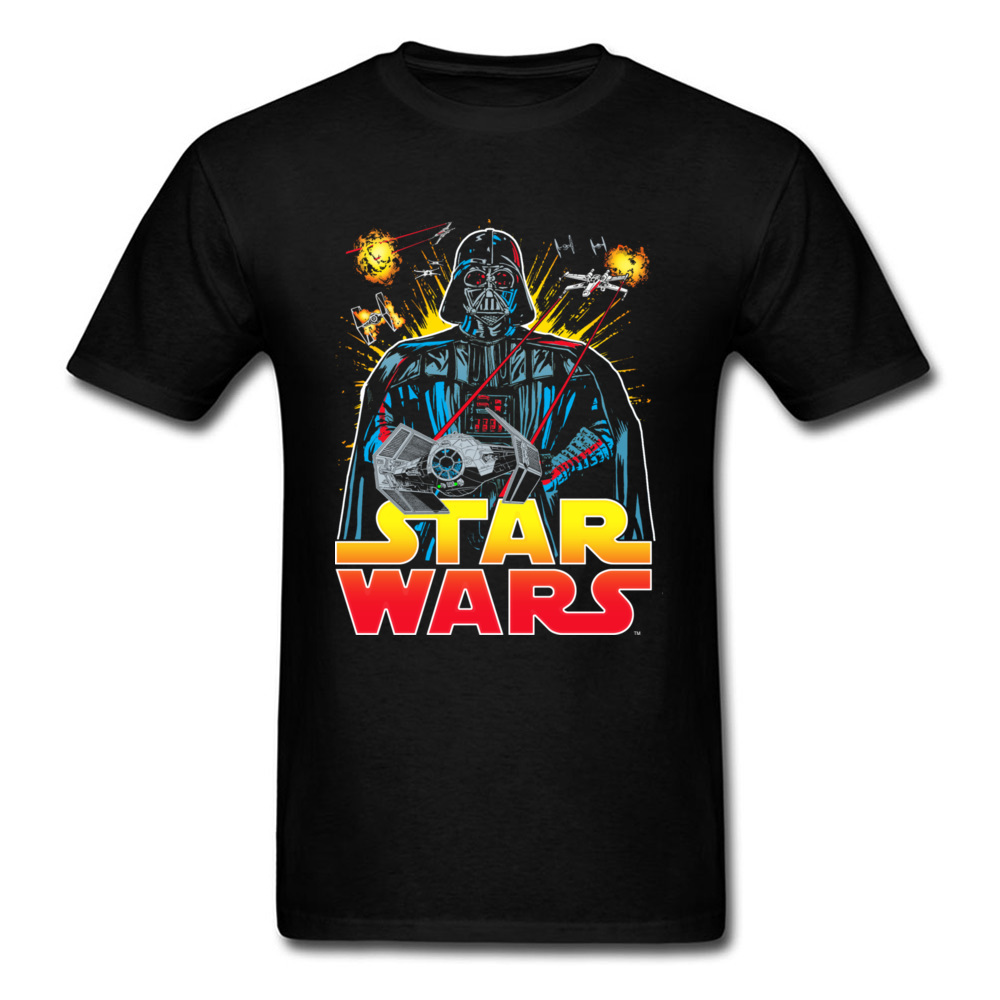 Empire Falling 2018 Summer Star Wars T Shirt Men Black T Shirts Cotton Gift Tops Hip Hop Warrior Game Tshirt Darth Vader