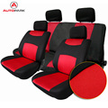 KKmoon Universal Car Seat Cover Set 10Pcs Seat Covers Front Seat Back Seat Headrest Cover Mesh Black and Gray 5 Styles Optional