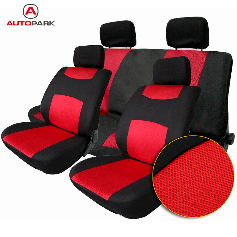 Online Shop Universal Waterproof Car Seat Covers 10Pcs Front Back Headrest Cover Mesh Protector For Peugeot 307 Toyota VW