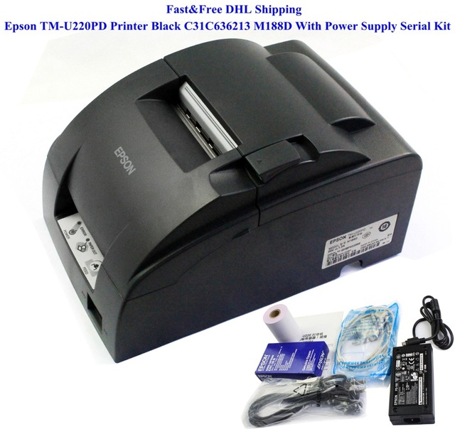 Новый Для Epson TM-U220PD Принтера Черный C31C636213 M188D С Блоком Питания Серийный Комплект