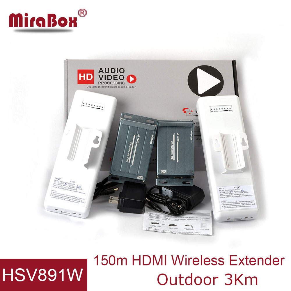1080p Wireless HDMI Extender With IR POE Function Support Full HD High Definition Maximum 20KM No Latency HDMI TX RX