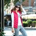 Plus Size Fashion Women Sleeveless Jacket Winter 2016 Cotton Regular Paragraph Slim Warm Feather Waistcoat Cotton Coat 5XL FB066