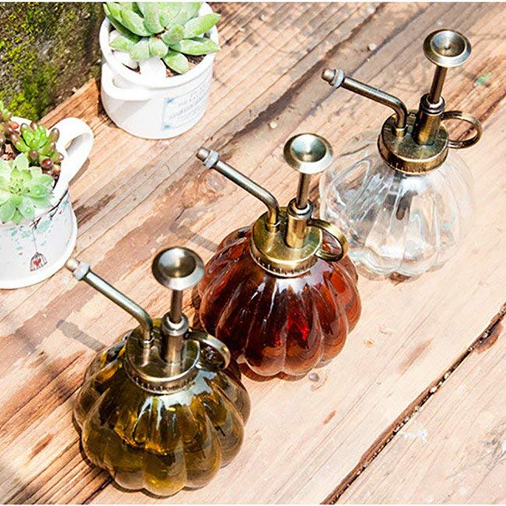 Glass-Spray-Bottle Watering-Flower Gardening-Planting-Supplies Jug Garden Pumpkin-Shape