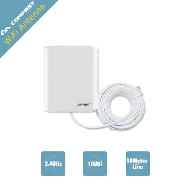 Long Distance 10 m linha USB Adaptador Wi-fi Ao Ar Livre Antena Wi-fi Comfast 10dbi Antena da Placa de Rede Sem Fio Externo 802.11B/G/N
