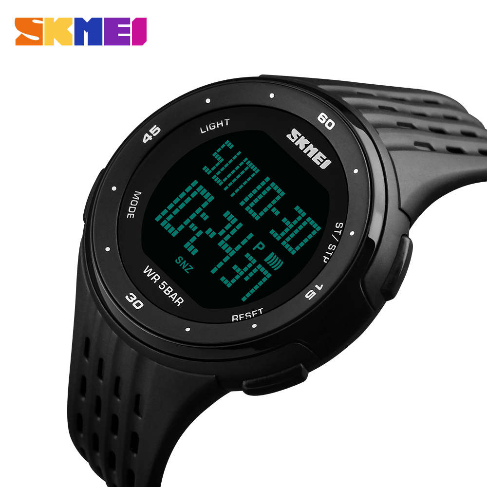 2018 New Fashion Outdoor Men Boy LED Digital Watch Skmei Brand Military Watches For Men Women Shockproof Waterproof Sport Watch