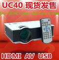 Freebies Multi Language Subtitle!UC40+ Plus Projector Mini Pico portable proyector AV USB & SD With   VGA HDMI Projector Beamer