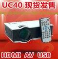 Freebies Multi idioma subtítulo! UC40 + Plus proyector Mini Pico proyector AV USB y SD con VGA HDMI proyector Beamer
