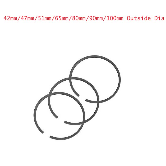 FREE SHIPPING 1set 42mm/47mm/51mm/65mm/80mm/90mm/100mm Dia Piston Rings Set for Air Compressor changchai 4l68 engine parts the set of piston piston rings piston pins