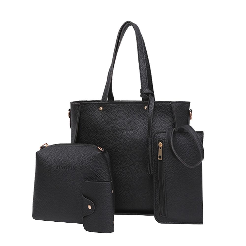 Women Bags Four Set Handbag Shoulder Tote Crossbody Taschen Women Bolsa Masculina Sac Femme Sac Main Femme Torebka Damska