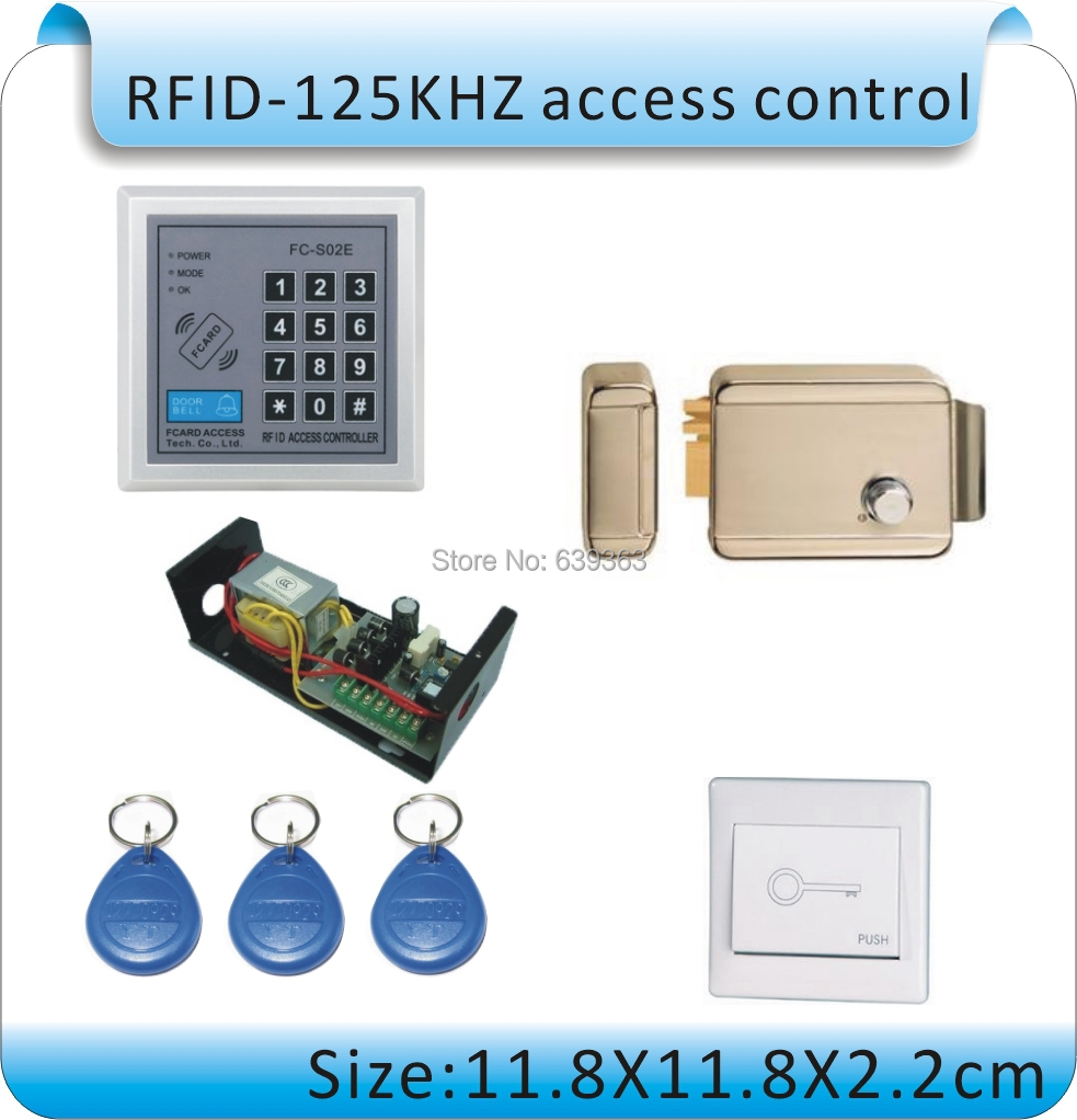 DIY  RFID 125KHZ +password access control system  /Iron is special lock +power+1 switch+10pcs key cards touch keyboard 300khz access control system number keyboard password gsm pstn home alarm rfid access control system auto lock