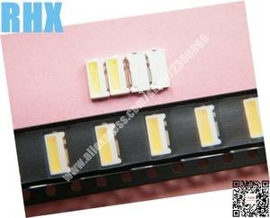 Image 2 - 200 יחידות\חבילה לתיקון LCD טלוויזיה LED תאורה אחורית מאמר מנורת SMD נוריות צד ברק 3 V 7032 150MA קר לבן אור דיודה