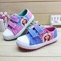 2016 otoño nuevos modelos de explosión de color rosa muñeca linda patrón de vela zapatos niñas zapatos de venta directa de fábrica
