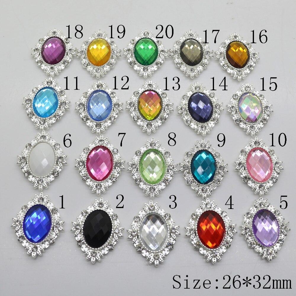 Botones Silver Clear Crystal Glass Rhinestone Buttons For Clothes Wedding Botones Decorativos DIY Scrapbooking Craft Supplies