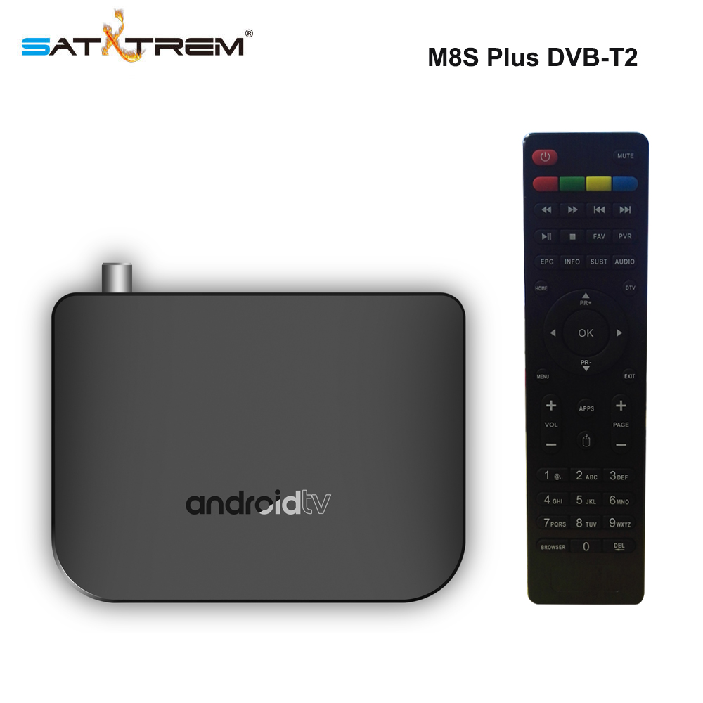 Nuevo MECOOL M8S más W DVB-T2/T Android TV caja Amlogic S905D Quad Core 1 GB 8 GB 1080 P 4 K 30fps Youtube Google Play Store Netflix