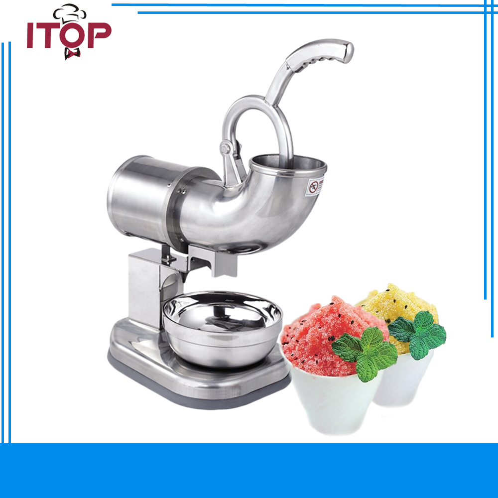 Ice Shaver Machine Snow Cone Maker Crusher Smasher Commercial Electric Stainless Steel Machine