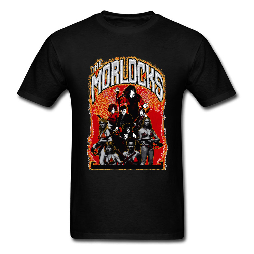 2018 Hot Sale Men's T Shirt O Neck Short Sleeve Cotton Gift Tops & Tees Comics Tshirts Wholesale Best Art Poster The Morlocks Italy 11134 black