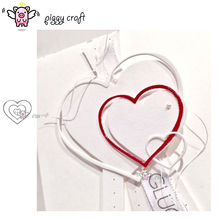 Piggy Craft metal cutting dies cut die mold Heart shaped ring frame Scrapbook paper craft knife mould blade punch stencils dies