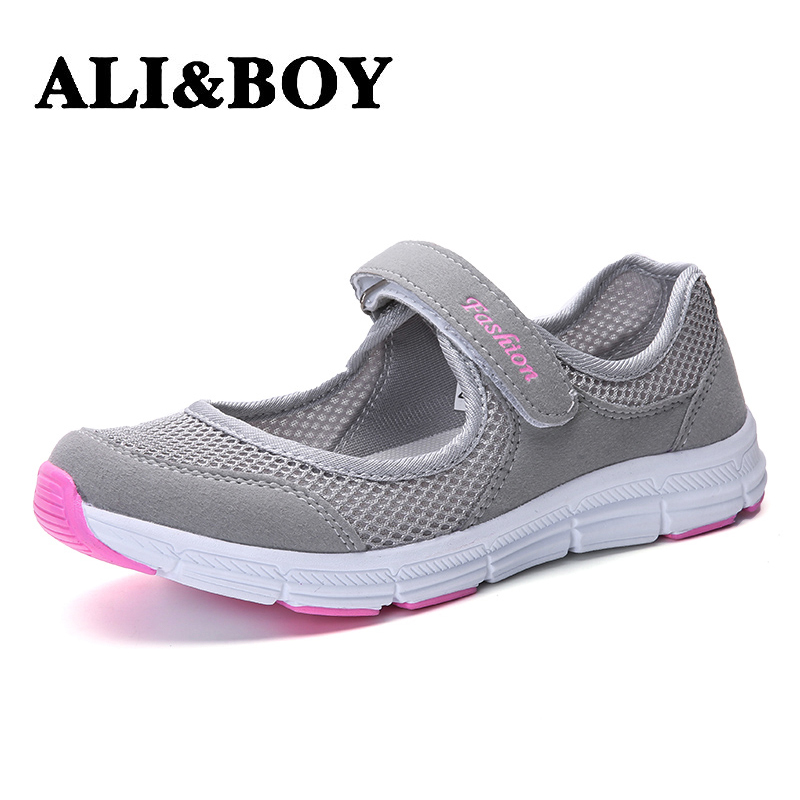 2017 Elderly Womens walking shoes summer breathable Air Mesh Tenis anti slip mother sports soft Ladies Women walking shoes2017 Elderly Womens walking shoes summer breathable Air Mesh Tenis anti slip mother sports soft Ladies Women walking shoes