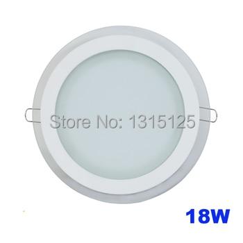 Современный дизайн со стеклянной 18 Вт потолочные встраиваемые светодиодные светильники/круглый панель кухня свет 200 мм 1 шт./лот Бесплатная ...