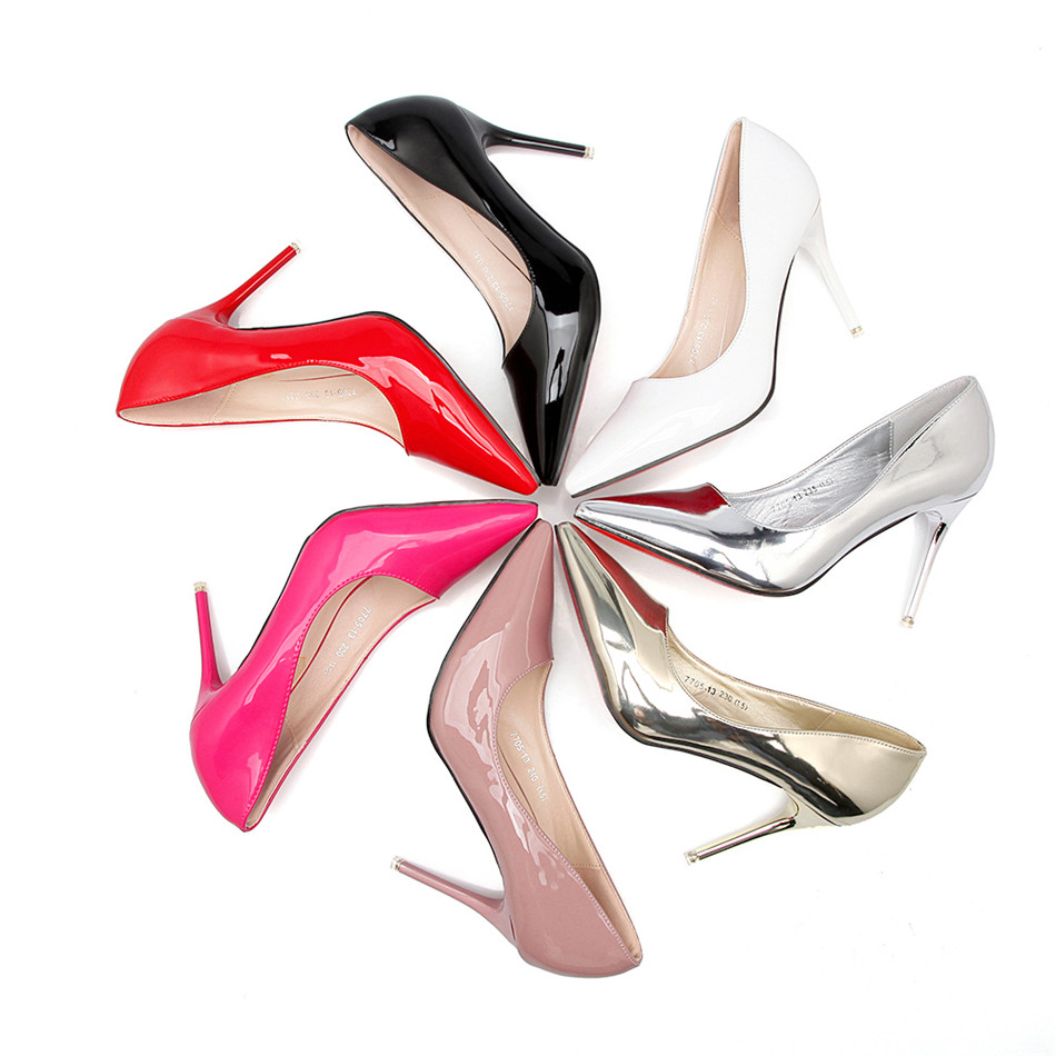 2018 Women Shoes Pointed Toe Pumps PU Leather Office Lady Shoes High Heels Wedding Shoes Zapatos Mujer tacones altos mujer sexy zapatos mujer designer women shoes pumps summer high heels sexy fashion wedding shoes pointed toe thin heels office shoes