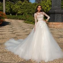 HIRE LNYER Vintage Long Sleeve Wedding Dresses A Line