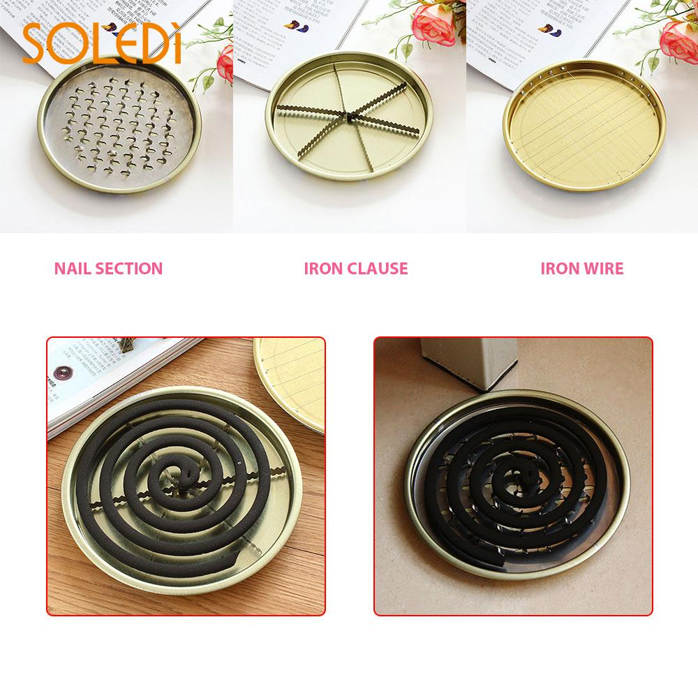 Protable Mosquito Coils Tray Mosquito Coils Plate Sandalwood Coil Holder Durable Round Alloy Hotels Toilets Insect SandalwoodProtable Mosquito Coils Tray Mosquito Coils Plate Sandalwood Coil Holder Durable Round Alloy Hotels Toilets Insect Sandalwood
