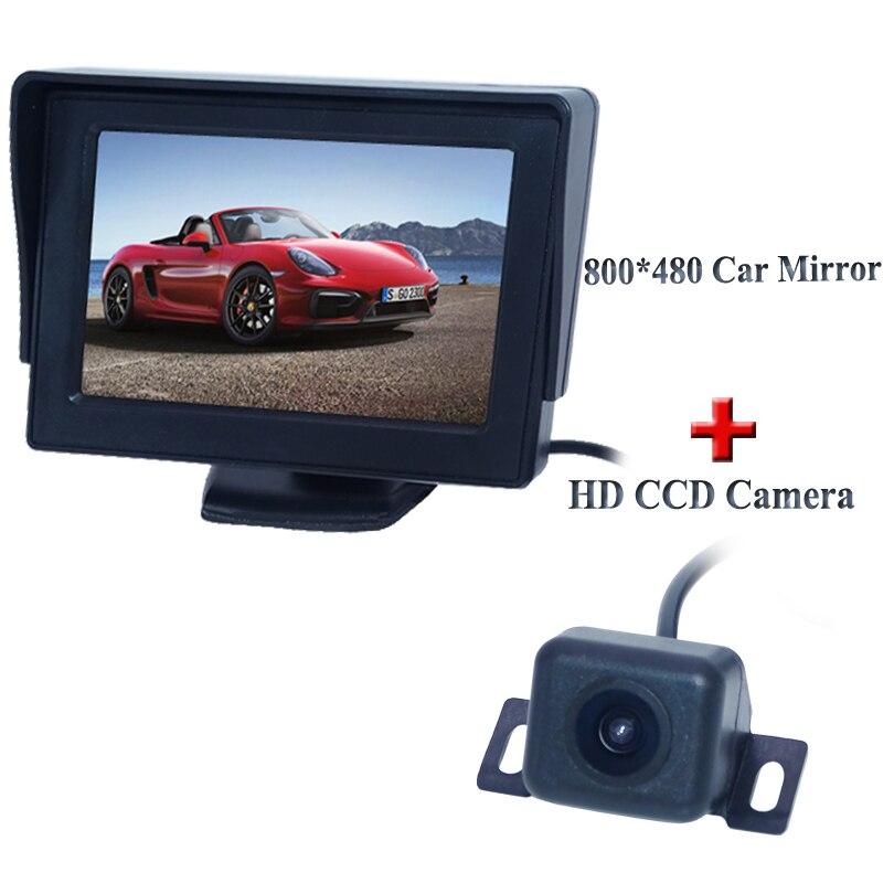 "4.3\"" AU new panel /800(W) X 480(H)XRGB PAL/NTSC/ 2 video signal inputs Car Sun Visor <font><b>Monitor</b></font>+ Rear view camera"