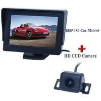 4.3 AU new panel /800(W) X 480(H)XRGB PAL/NTSC/ 2 video signal inputs Car Sun Visor Monitor+ Rear view camera