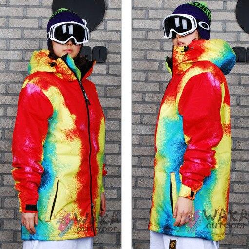 57409538fe 2014 Hot Selling Waka-e Plus Size Women Monoboard Ski Suit Tie-dyeing Long  Design Snowboard Skiing Jacket Loose